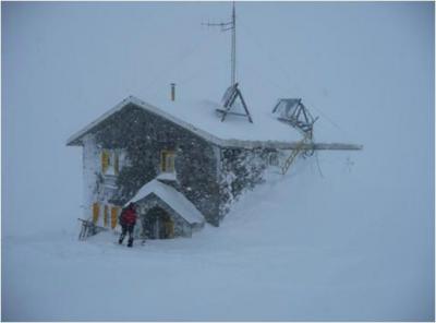 Alud en el Pirineo